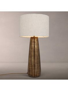 Buy John Lewis & Partners Neema Medium Ribbed Lamp Base, Nickel, from our Desk & Table Lamps range at John Lewis & Partners. Table Desk, Table Lamp, Lamp Bases, John Lewis, Antique Brass, In The Heights, Bedroom, Medium, Antiques