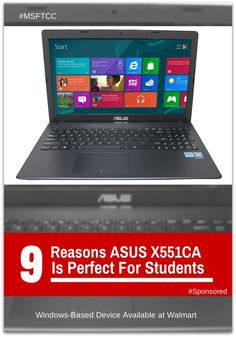 Students have specific needs when it comes to technology. In this post I'll show you what features of the ASUS fit the student's needs. ASUS X551 Laptop for Students #MSFTCC #BacktoSchool #Sponsored http://scrapsofmygeeklife.com/geek-stuff/asus-x551ca/?utm_campaign=coschedule&utm_source=pinterest&utm_medium=Michele%20McGraw%2C%20Scraps%20of%20My%20Geek%20Life%20(Scraps%20of%20My%20Geek%20Life%20Posts)&utm_content=ASUS%20X551%20Laptop%20for%20Students%20%23MSFTCC%20%23BacktoSchool