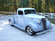 1937 chevy truck - great color CArolina Blue