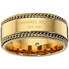 michael kors logo plaque band ring silver ring 71 liked on