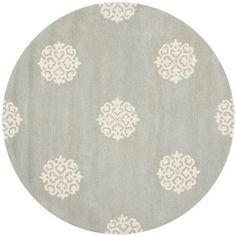Zoxoro.com.au | Safavieh Soho Collection SOH724C Handmade Wool Round Area Rug, 6-Feet, Grey and Ivory New Zealand