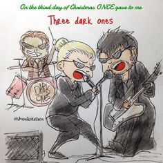"Once Christmas Countdown by jvosketches ! Day 3 : ""Three Dark Ones"" :)"
