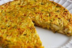 Vegan Zucchini Frittata (230 cal, 22 g protein for half a 9 inch pie plate)