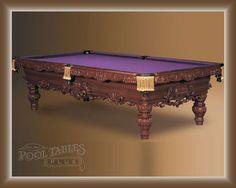 ~purple Felt Covered Pool Table ~divine~