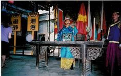 Re-enactment of a Qing-dynasty magistrate.