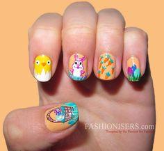 14 Cute Easter Nail Art Designs | Fashionisers