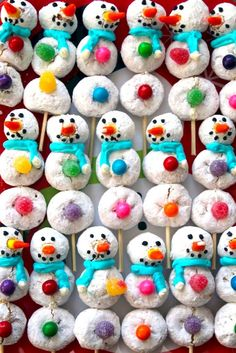 DIY these powdered donut snowmen with your little ones.