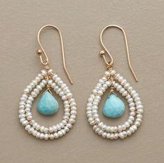 Blue Broilette Earrings