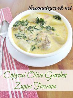 Olive Garden's Zuppa Toscana Recipe