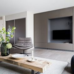 tv stand with doors - Wall mounted tv furniture, custom - Furniture-. Tv Furniture, Custom Furniture, Tv Stand With Doors, Modern Family Rooms, Wall Mounted Tv, Door Wall, Tv Cabinets, Black Mirror, Decoration