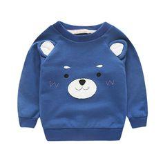 Brand Kids Boys T Shirt Cartoon Bear Kids Girls Boy Clothes T-shirts 2016 Spring Autumn Long Sleeve Boys Kids T shirt Brand Fall