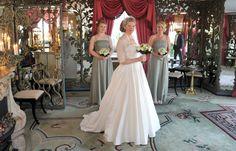 Sage green bridesmaid dresses. Gorgeous.