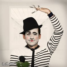 Check out this Photoshop Design for DesignCrowd (Community Contests) Mime Halloween Costume, Cute Halloween, Nose Makeup, Clown Makeup, Carnival Makeup, Carnival Masks, Pantomime, Mr Mustache, Mime Artist