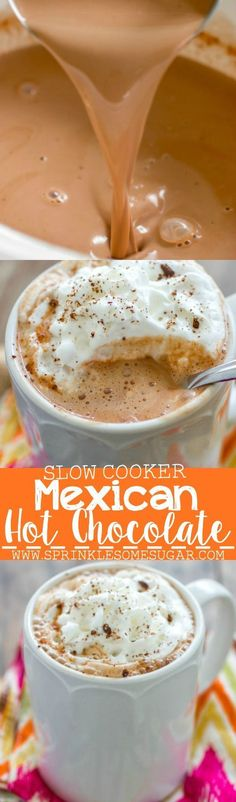 Mexican Hot Chocolate. Hot Chocolate infused with cinnamon, nutmeg and chili powder to give it a depth of flavor you wouldn't believe until you tried it!
