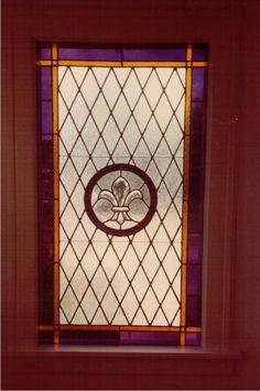 A favorite for many--Fleur de lis design in a leaded glass window aaleadedglass.com