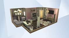 Check out this room in The Sims 4 Gallery! Sims 4 Ps4, Sims 4 Gameplay, Sims 4 House Plans, Sims 4 House Building, Sims 4 Teen, Sims 3, Sims 4 Bedroom, Sims 4 House Design, Cosy House