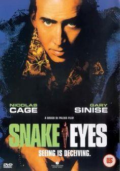 Ojos de serpiente es una película de intriga policiaca o thriller dirigida por Brian De Palma, realizada en 1998 y protagonizada por Nicolas Cage y Gary Sinise.