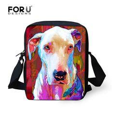 Multi colored Animal Women Messenger Bag Cute Cat Dog Head Crossbody Bags for Lady Zoo Small Travel Shoulder Bag mochila bolsas