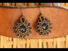 Sidonia's handmade jewelry - Rivoli earrings tutorial  (Go to YouTube.com to see info box that lists all materials used.)