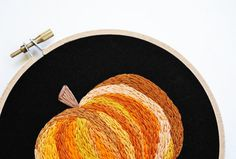 Pumpkin Embroidery by @Sarah Hennessey