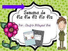 """Spanish word study for syllables with consonant blend /FL/. You will have the following for teaching """"trabadas"""" fla fle fli flo flu.  * Teacher pacing chart for teaching vowels, consonants and syllables in Spanish* Student ABC and Syllable Charts for writing* Phonemic Awareness activities* Word flashcards* Consonant blend syllable flashcards* Phonics Handwriting Sheets* Center Word Work Worksheets and Games* Board Game to practice writing the words from the week * Puzzle game for building…"""