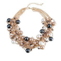 Elegant Chunky Choker Fashion Pearl Necklace