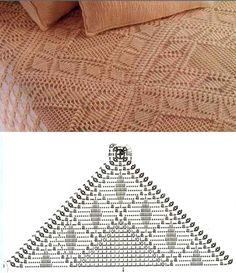 18 muestras de colchas tejidas a crochet ⋆ Manualidades Y DIYManualidades Y DIY Crochet Bedspread, Crochet Cushions, Crochet Tablecloth, Crochet Pillow, Afghan Crochet Patterns, Crochet Squares, Crochet Cable, Crochet Home, Filet Crochet