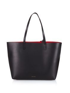 a3b3adb08f1ce Large red-lined leather tote