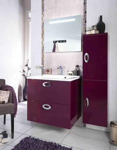 Meubles contemporains de salles de bains on pinterest loft for Meuble creatis lapeyre