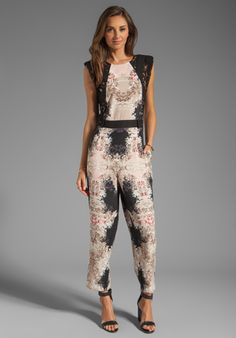 5942b02bbd3 BCBGMAXAZRIA Print Jumpsuit - love this jumpsuit but doesn t it look like  she forgot to shave the upper half of her bush  Bad placement of print