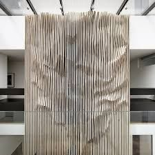 The wood paneling adds a dimension of texture and grabs all of your focus. Interior Walls, Interior Design, Interior Inspiration, Design Inspiration, Parametric Design, Screen Design, Wall Patterns, Wall Treatments, Office Interiors