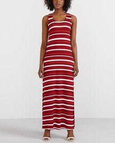 Cette robe maxi à rayures est composée de rayonne et d élasthanne. Coupée  pour 5e1c2585789