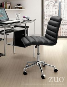 Zuo Admire Office Chair Black - 205710
