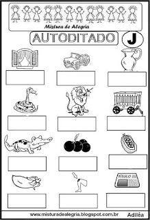 Autoditado para alfabetização com a letra J