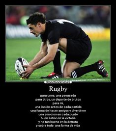 carteles rugby para desmotivaciones Frases Rugby, All Blacks Rugby, Rugby Sport, Pumas, Nfl, Sports, Rugby Men, Lion Pictures, Men In Uniform