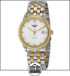 LONGINES RELOJ DE HOMBRE AUTOMÁTICO CORREA DE ACERO DOBLE TONO L48743277 de  ✿ Relojes para hombre - (Lujo) ✿