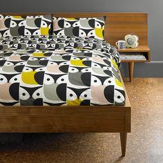 Brand New Orla Kiely Double Duvet Quilt Cover Bed Set Duck Egg Big Tulip
