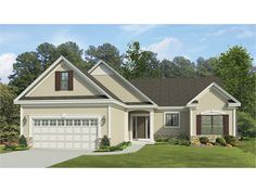 1 story, 1555 square foot, ready-to-build house plan from BuilderHousePlans.com