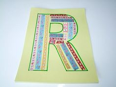 Alphabet Letters R is for Ribbons Craft . Then sing the FREE Letter R Song For Kids!