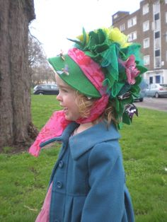 Easter bonnet as child craft....and so fun to be silly