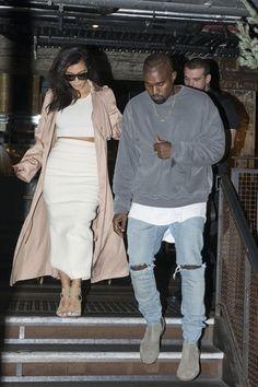 Mariés depuis trois mois et parents d'une petite fille, North West, plus rien ne semble aller entre Kim Kardashian et Kanye West Kim Kardashian, Kanye West, Interview, Hollywood, Celebrity Gossip, White Jeans, Plus Rien, Photoshoot, Celebrities