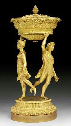 """BRULE-PARFUM """"AUX BACCHANTES"""",  Empire, sign. P.P. THOMIRE (Pierre Philippe Thomire, 1759 Paris 1843), Paris um 1810/20."""