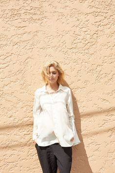 Belle Silk Shirt. KIN Maternity