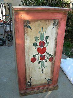 Peter Hunt Folk Art Painted Dresser