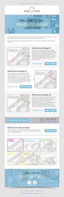 Mailchimp template design for home technology product launch by MT&MN