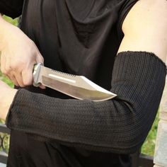 Cutting Outdoor Self-defense Arm Guard Against Glass Knife Cut Steel Mesh Gloves Cuff Cut-resistant Protective Safety Sleeves