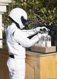 The Stig's beauty routine...