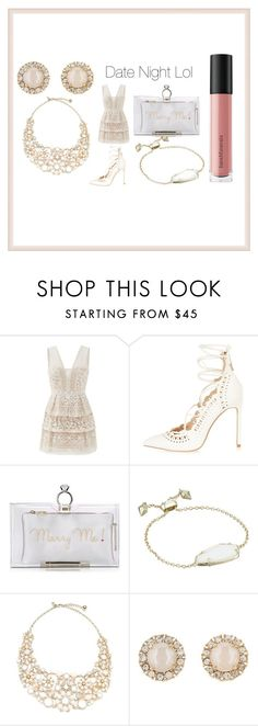 """""""Date Night lol"""" by dimeond711 ❤ liked on Polyvore featuring BCBGMAXAZRIA, River Island, Charlotte Olympia, Kendra Scott, Kate Spade, Bare Escentuals, DateNight and stylist"""