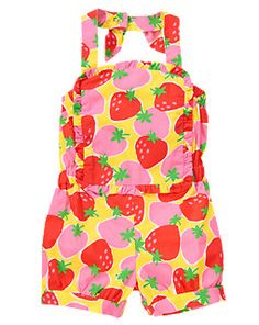 Strawberry Bib Halter Romper