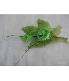 Corsage van Foam Roosje en Calla's + blaadjes Groen